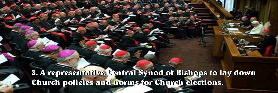 The Synod derives its authority from the world-wide body of bishops.